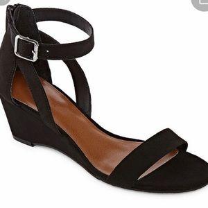 Arizona Black Wedge Sandal